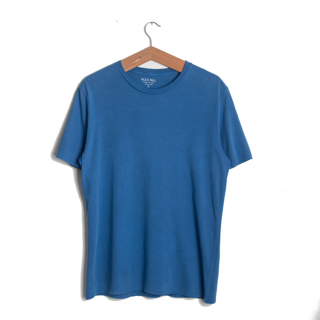 Standard Cotton Jersey Tee - Washed Cobalt Thumbnail