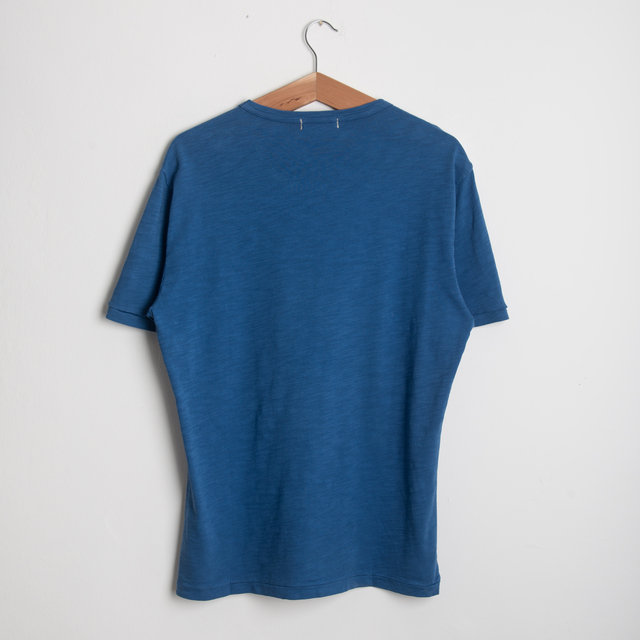 Standard Slub Cotton Tee - Sea Blue Thumbnail