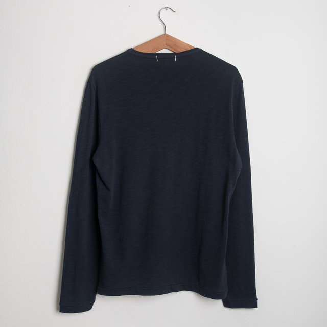 Standard Slub L/S Cotton Tee - Navy