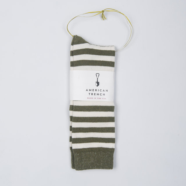 Rugby Stripe - Army / White Thumbnail