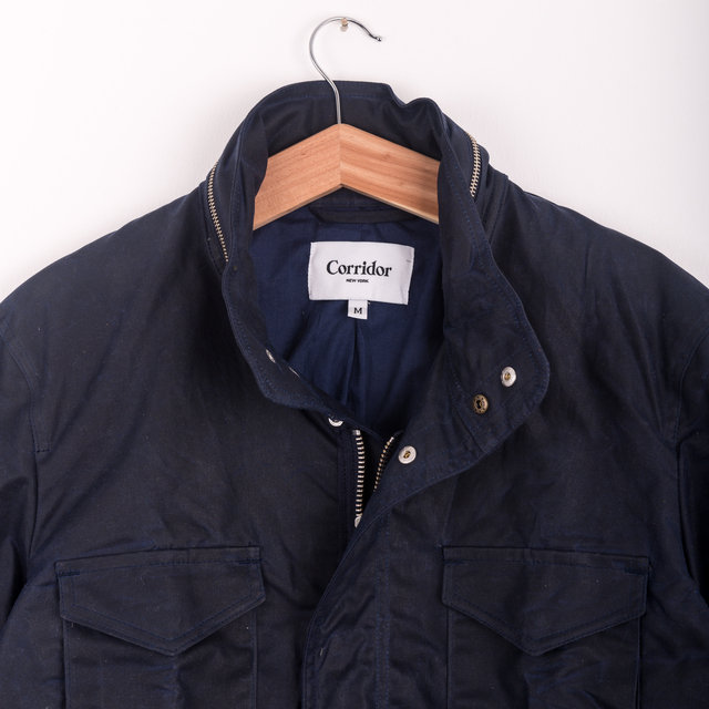 Waxed Cotton M65 Jacket - Navy