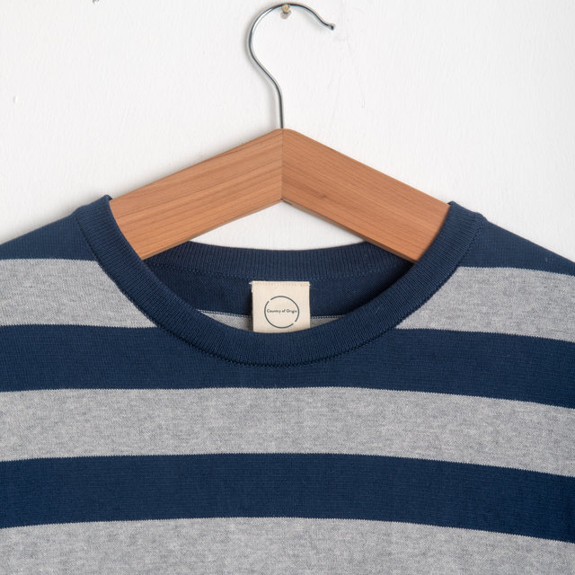 Style 13 - Navy Wide Stripe Thumbnail