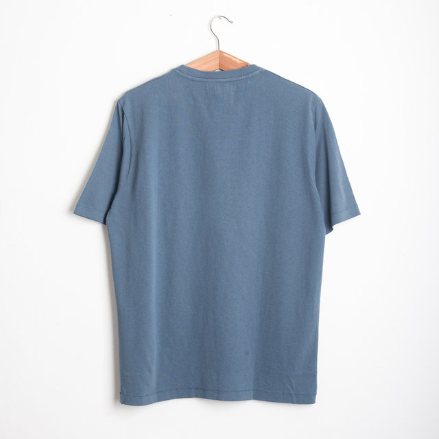 CONTRAST SLEEVE TEE - DENIM BLUE Thumbnail