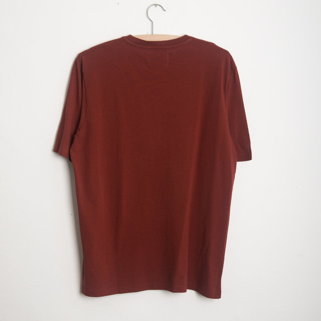CONTRAST SLEEVE TEE - BRICK RED Thumbnail