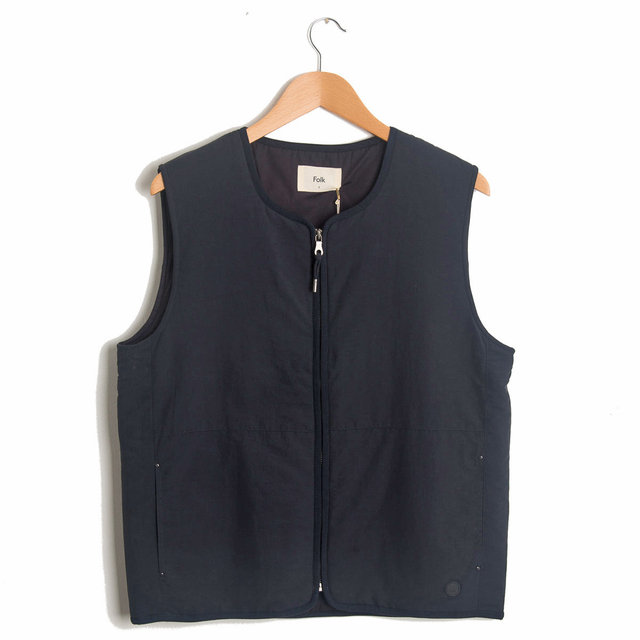 Wadded Gillet - Deep Navy
