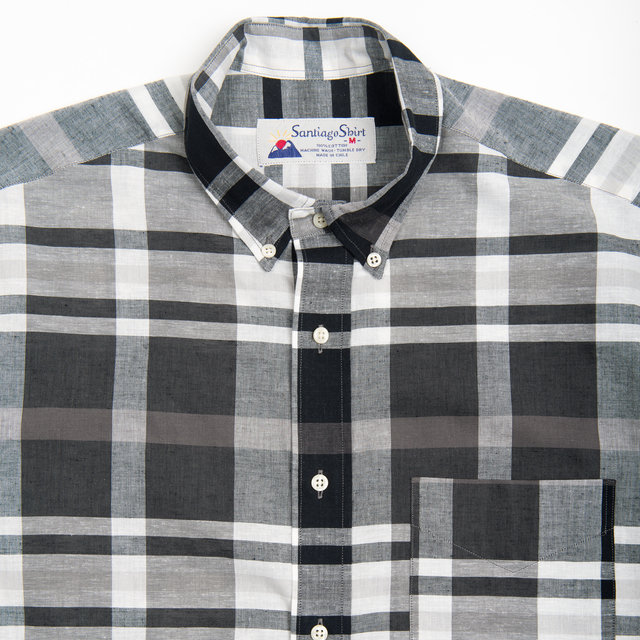 Santiago Shirt - Black White Check Thumbnail