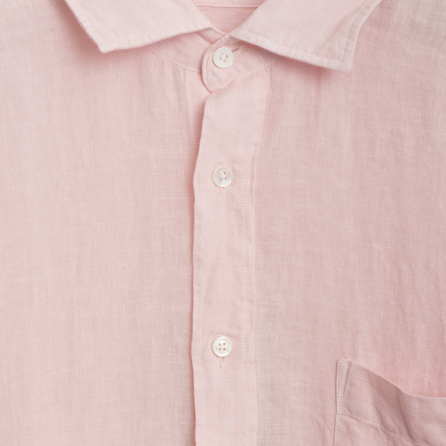 0451754650bb79 Hartford Paul Pat - Pale Pink Linen Shirts | Frontiers Man