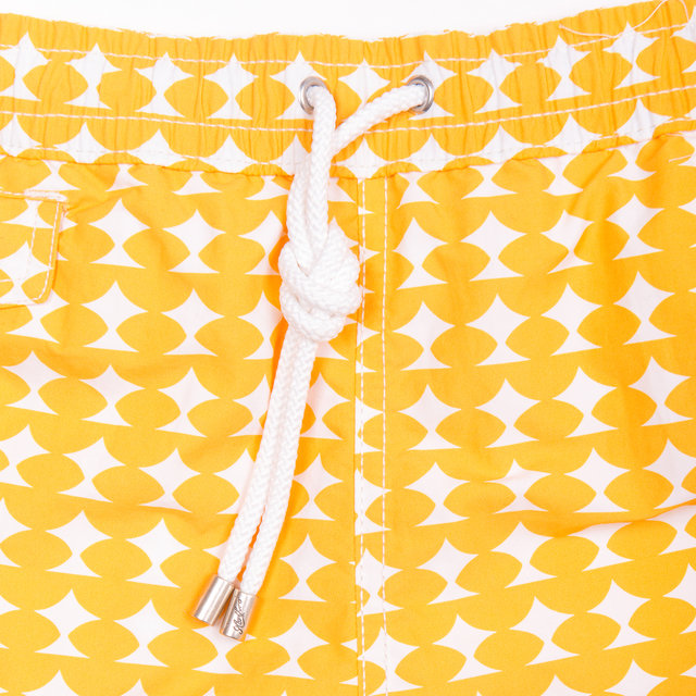Swim Boxer Shorts - Yellow / White Thumbnail