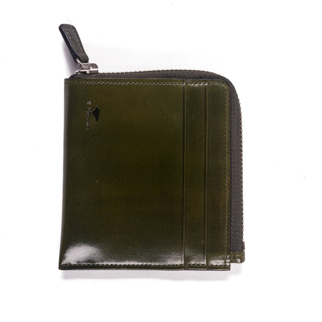 SMALL ZIPPY WALLET - GREEN Thumbnail