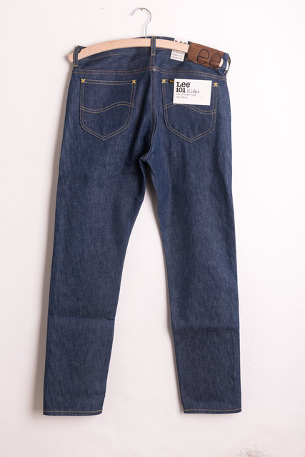 341cdcc7 Lee 101 Rider Jeans Natural Indigo Selvedge 15oz - The Best Style Jeans