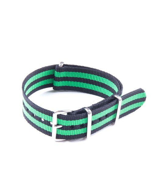 20mm Black and Green NATO Strap Thumbnail