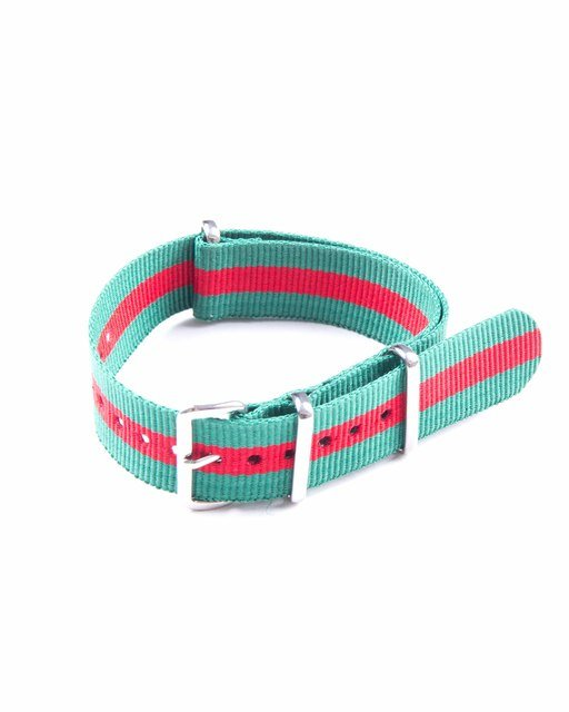 20mm Green and Red NATO Strap Thumbnail