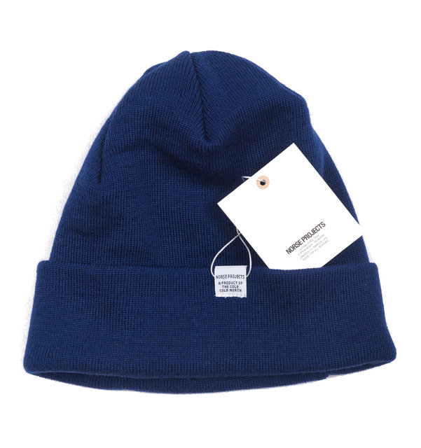 a2aa6aecc4c Norse Projects Norse Top Beanie - Compound Blue Accessories ...