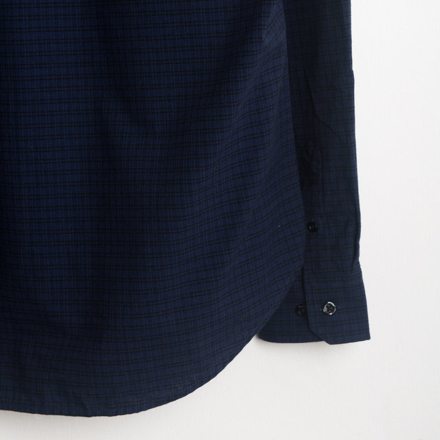Osvald Micro Check - Dark Navy Thumbnail