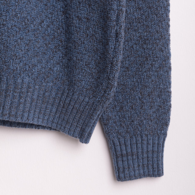 Blenheim Crew sweater - Sky Blue Thumbnail