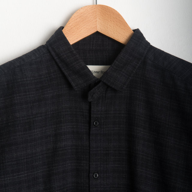 Clerkenwell Tab Shirt - Clarence Charcoal Thumbnail