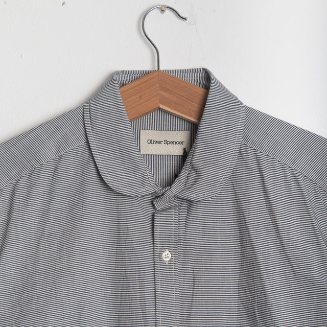 Eton Collar Shirt - Broadstone Navy Thumbnail