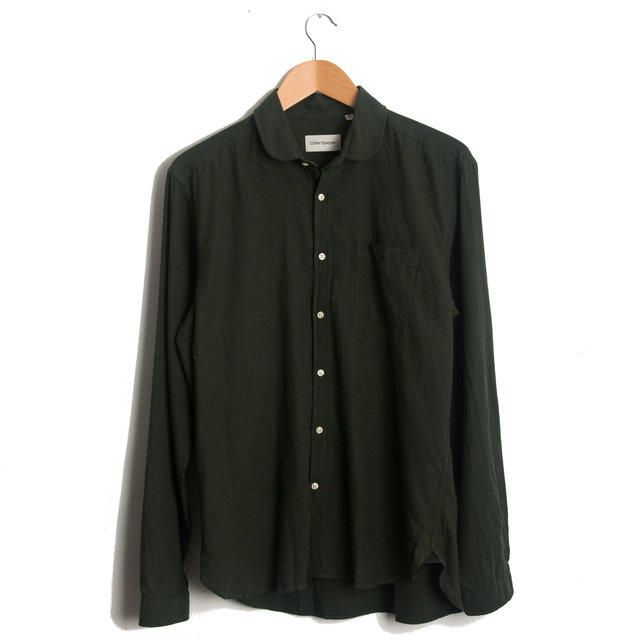 Eton Collar Shirt - Green Thumbnail