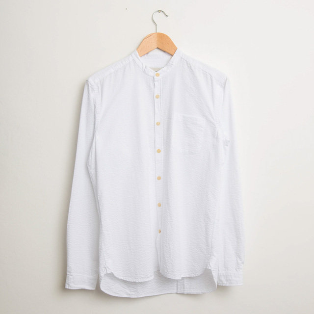 Grandad Shirt - Hattison White Thumbnail