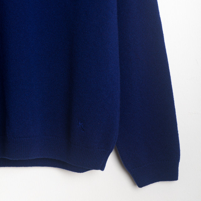 CREW NECK SWEATER - BLUE Thumbnail