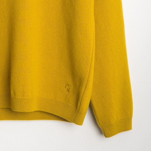 CREW NECK SWEATER - MUSTARD Thumbnail
