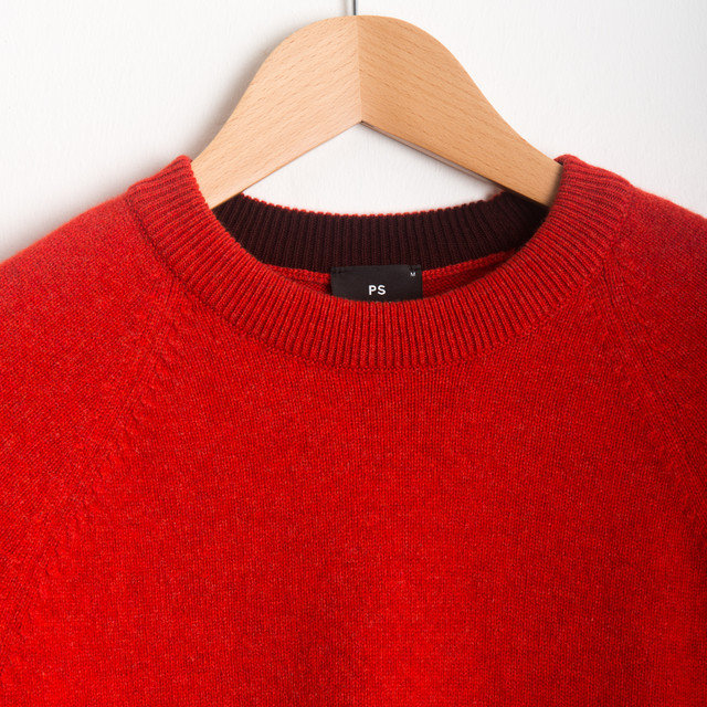 CREW NECK SWEATER - RED Thumbnail