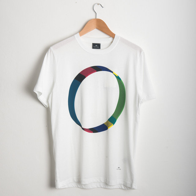 f32aec813 Paul Smith 'Cycle Stripe' Print T-Shirt Sale | Frontiers Man