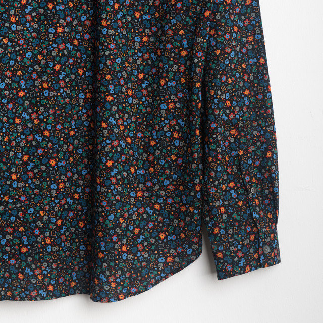 TAILORED SHIRT 79 - BLACK FLORAL Thumbnail