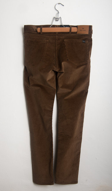 TAPERED CORD JEAN - CAMEL