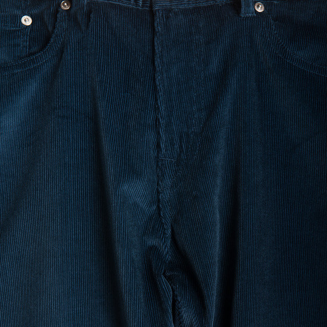 TAPERED CORD JEAN - INDIGO