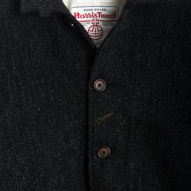 BAKERS CHORE JACKET - Harris Tweed Grey Thumbnail