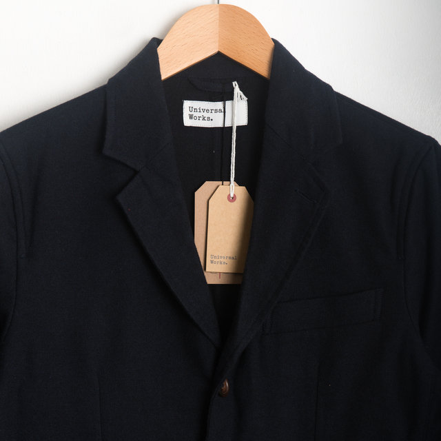 London Jacket - Navy Wool Marl Thumbnail