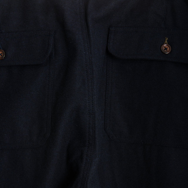 Loose Pant - Navy Wool Marl Thumbnail