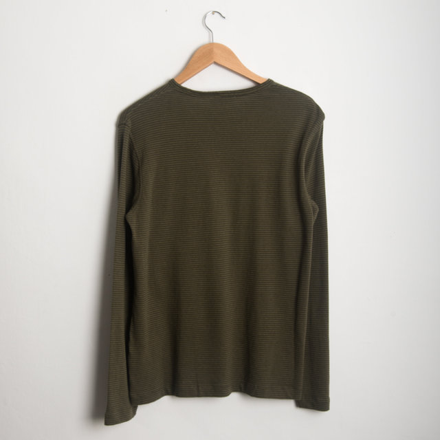 MATISSE LS TOP - GREEN/LT GREEN