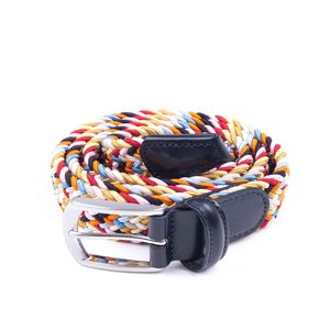 Woven elasticated textile belt