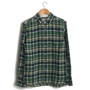 Brushed Green Plaid Flannel Shirt
