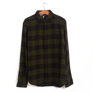 Buffalo Check Flannel Shirt - Green