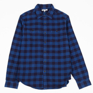 Buffalo Plaid Chore Shirt - Indigo
