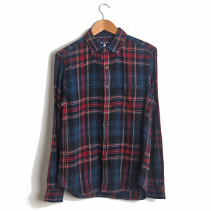 Cabin Plaid Sport Shirt - Navy/Red