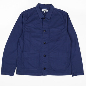 COTTON SHIRT JACKET - NAVY