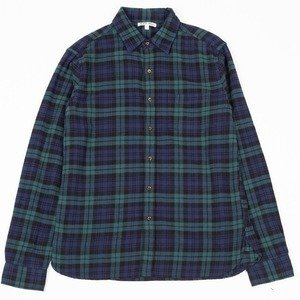 Easy Flannel Shirt - Green/Navy