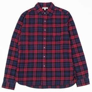 Easy Flannel Shirt - Red/Navy