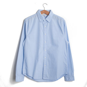 End on End School Shirt - Light Blue