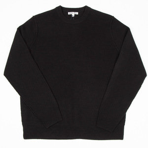 Extrafine Merino Crew Sweater - Black