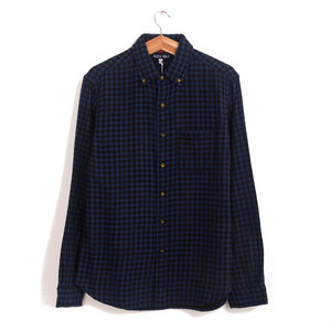 Gingham Double Cloth - Navy