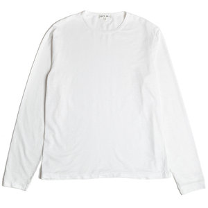 L/S SLUB COTTON T-SHIRT - WHITE