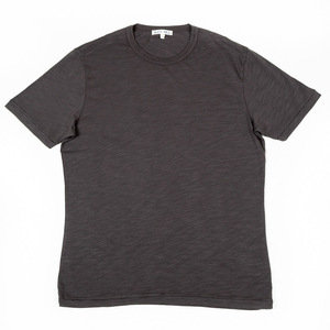 SLUB COTTON T-SHIRT - FADED BLACK
