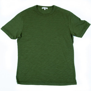 SLUB COTTON T-SHIRT - GREEN