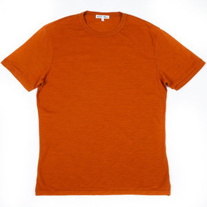 SLUB COTTON T-SHIRT - TOFFEE