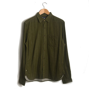 Solid Heather Double Gauze - Dark Olive